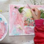 Kunstschule Himbeerblau